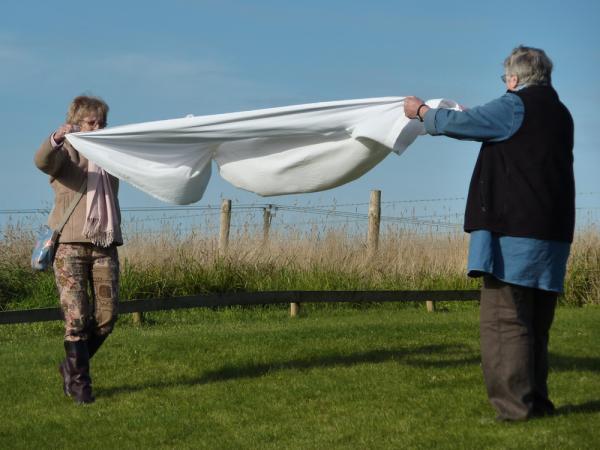 FOLD (2012) Participants Folding. Marianne & Sheila 4