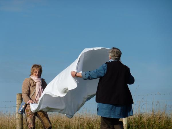FOLD (2012) Participants Folding. Marianne & Sheila 5
