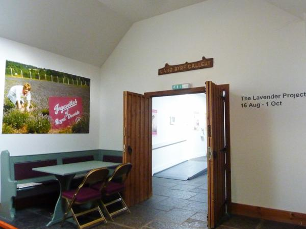 August 2013. Entrance to Woodend Barn Gallery. The Lavender Project.